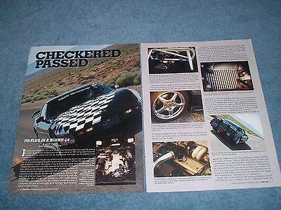 """1991 Corvette Coupe Rennwagen Artikel """" Kariert Passed Zoll GüNstigster Preis Von Unserer Website"""