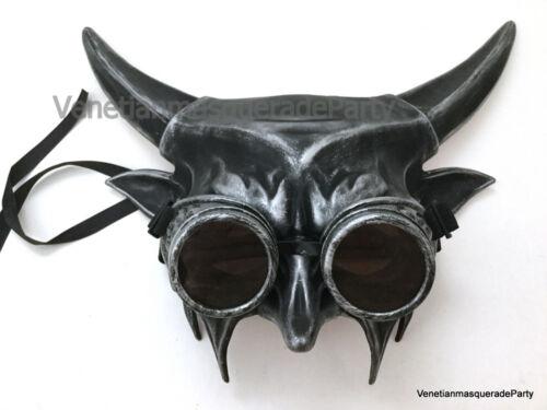 Devil Horror Mask With Goggles Evil Lucifer Satan Halloween costume Animal Art