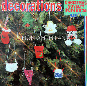 knitting pattern to make christmas tree decorations angel postbox