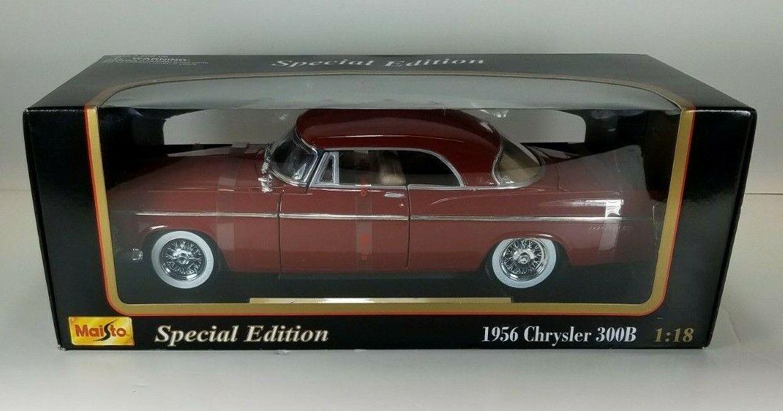 Maisto 1 18 Special Edition 1956 Chrysler 300B NIB rojo