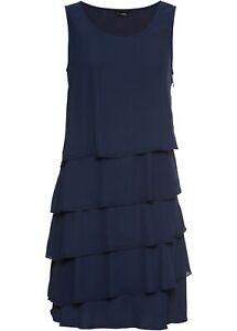 Damen Kleid mit Volant im Lagen-Look, 244891 in Dunkelblau ...