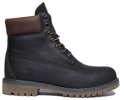 Timberland Waterproof Men Lace up Leather boots B Grade In Black Size UK 6-12
