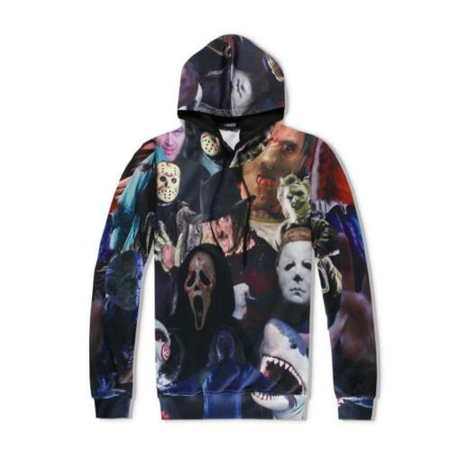 New Fashion Women//Men Horror Movie Killers 3D Print Casual Hoodies+Pants Sets
