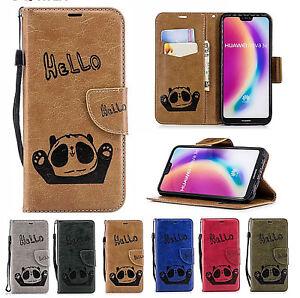 Housse-Rabat-Porte-Carte-Dessin-Panda-Coque-Souple-pour-iPhone-Samsung-amp-Huawei