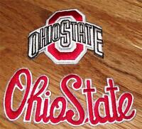 2x Ohio State University Osu Buckeyes Patch Patches Logo & Script Cool Q1