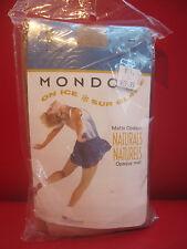 Mondor Child 8-10 #3393 Suntan Footless Skating Tights OPAQUE  NEW