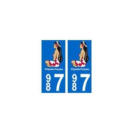 987 Hinano Polynésie autocollant plaque arrondis