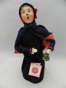 Byers-Choice-Carolers-Salvation-Army-Woman-Bell-ringer-1999-EUC