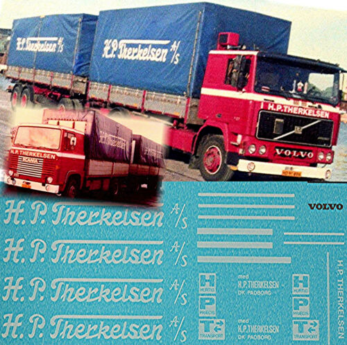 Volvo F12 Scania H.P.Therkelsen Canvas Dk 124 Truck Decal Sticker