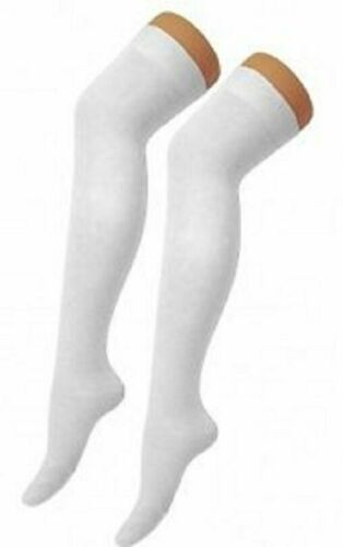 Attractive Colours Ladies Girls Long Over The Knee Plain Cotton Socks