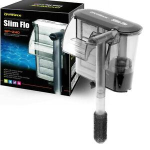 Dymax Slim Flo Hang On Tank Aquarium Filter