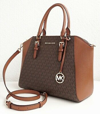 Michael Kors Bag Handbag Ciara LG Satchel Braun New 35s9gc6s3b | eBay