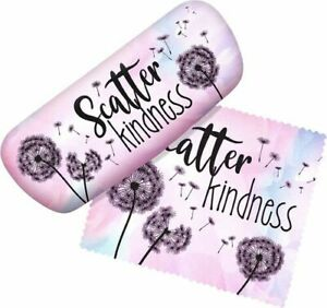 Scatter Kindness Eyeglass Case with Matching Cleaning Cloth