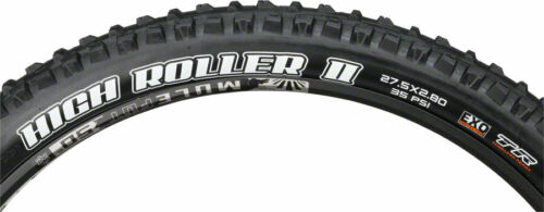 27.5 x 2.8 Tubeless Folding Black Dual EXO Maxxis High Roller II Tire