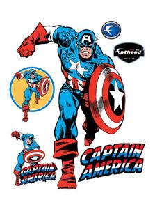 Image Is Loading Fathead Captain America Clic Marvel Comics Real