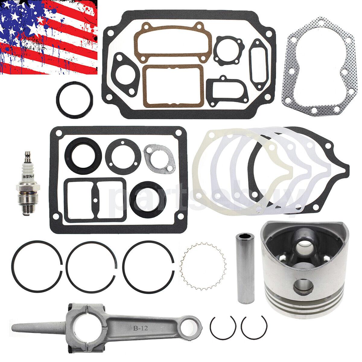 Para Kohler K301 M12 12HP motor estándar reconstruir Kit Juntas Anillo De Pistón Tune Up