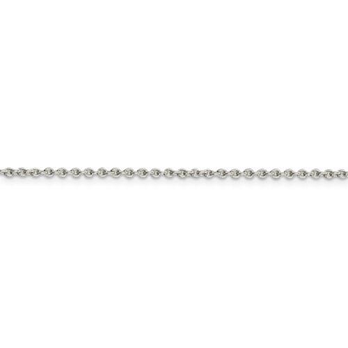 "Sterling Silver Solid Plain 1.95 MM câble lien chaîne avec homard fermoir 16/"" 36/"""