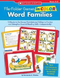 Word Families, Grades K-2 (File-Folder Games in Color) - Paperback - VERY GOOD