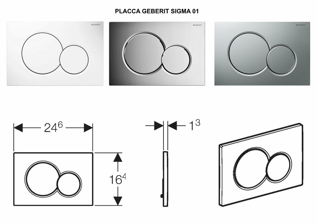 PLAKETTE GEBERIT SIGMA 01 2 SCHALTFLÄCHEN PER PFLANZENTOPF GrünIEFT     | Wonderful  | Elegante Und Stabile Verpackung  | Hochwertige Produkte