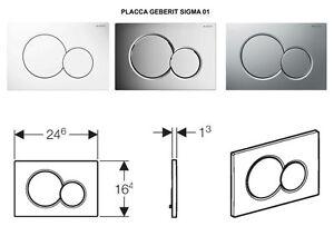 Plakette Geberit Sigma 01 2 Schaltflachen Per Pflanzentopf Vertieft