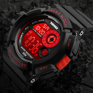 Men-039-s-Army-SHOCK-Sport-Quartz-Wrist-Day-Date-Digital-Watch-Waterproof-Military