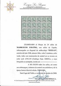 MARRUECOS-EDIFIL16HX-LUJO-CERTIFICADO-CAT-175-EUROS