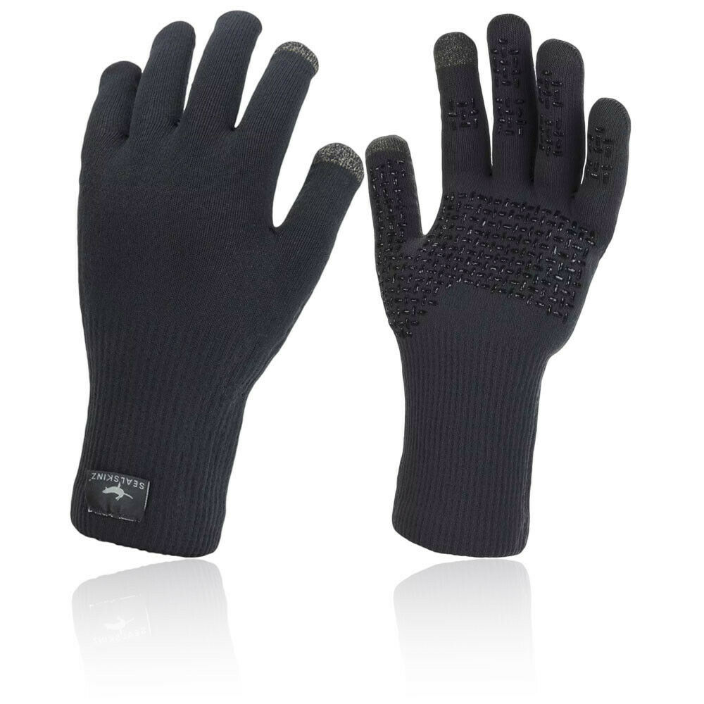 SealSkinz Mens Waterproof All Weather Ultra Grip Knitted Gloves