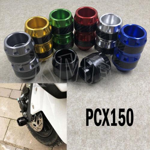 Front Axle Fork Side Crash Slider Guard Wheel Protector Cap For Honda PCX150//125