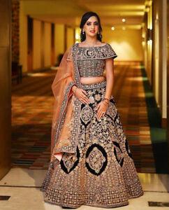 Bridal Designer Lengha Choli Indian Wedding Lehenga Ghagra Chunri Saree Sari