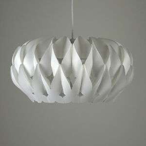 Modern white pleated ceiling pendant light shade origami lampshade image is loading modern white pleated ceiling pendant light shade origami aloadofball Images