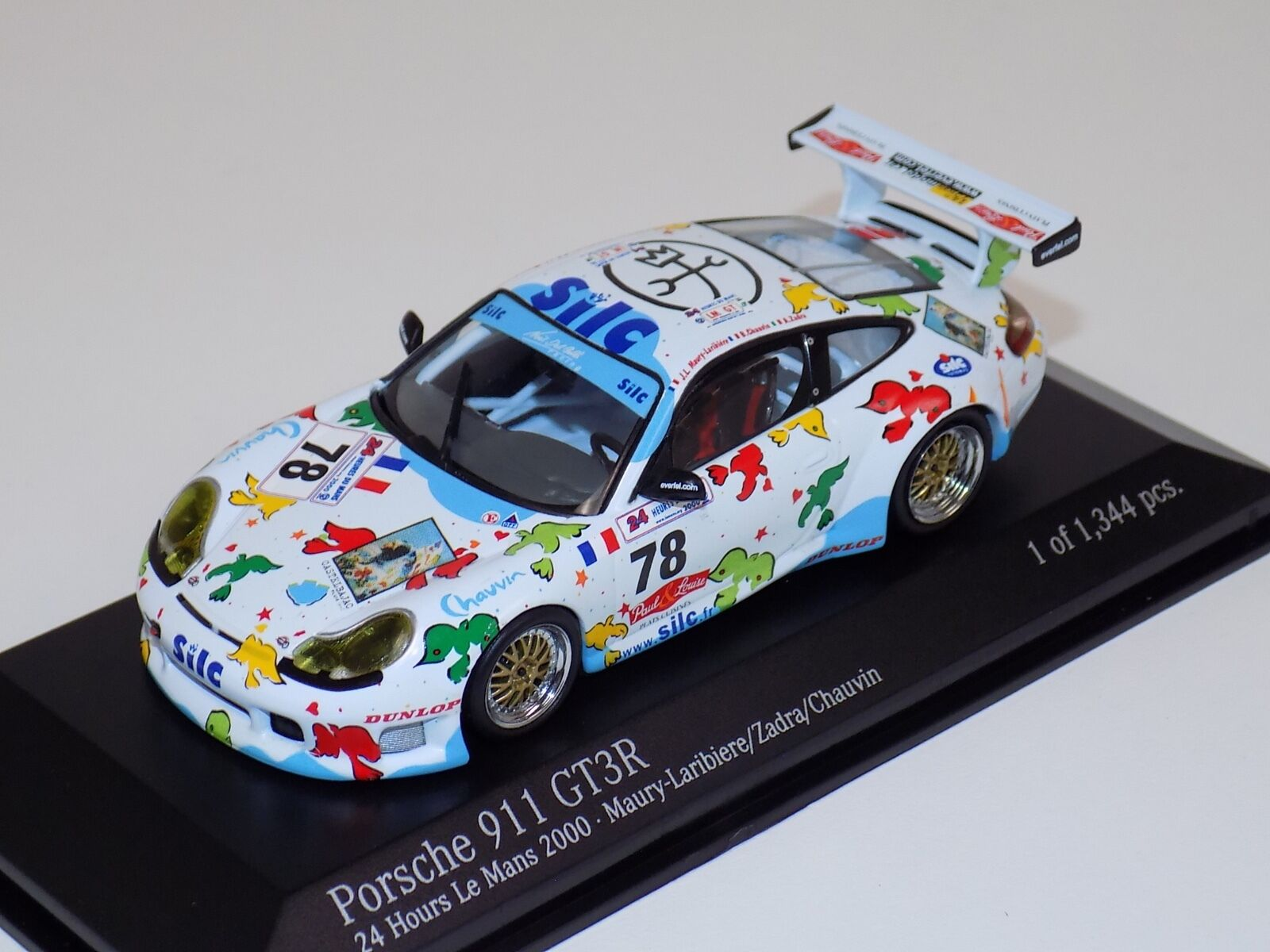 1 43 Minichamps PORSCHE 911 GT3-R 2000 Lemans Noel del bello Racing