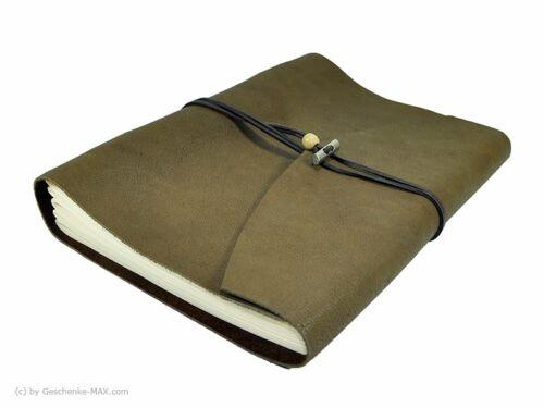 Tagebuch Notizbuch - Büffelleder A4 - 400 Seiten - Chocolate - vw-2305-424