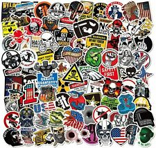 100 Pack Funny Sticker Hard Hat Construction Electrician Helmet Tool Box Decals