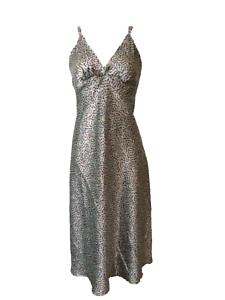 Multi Colour Spot Satin Chemise Nightie Nightdress Long Length 8//10 10//12 14//16