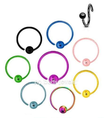 1pc 20G 18G 16G 14G Fixed Ball Captive Bead Ring Nose Ring Earring Labret Septum