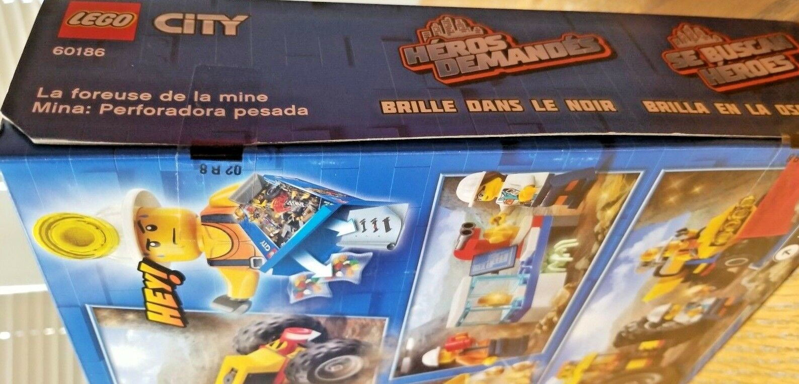 NEW SEALED LEGO® 60186 City Mining Heavy Driller (Glow in in in Dark Spider) 1a5e29