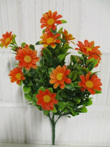 Dekoration Margeritten Busch orange künstliche Blumen Deko Kunstblumen wie echt