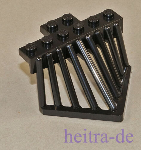 Rammschutz LEGO Ferrovia-kuhfänger Slider 2x6 Nero//90201 Merce Nuova