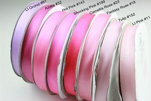 lt-Lilac-Pink-gt-9-38mm-1mtr-Satin-Ribbon-Scrapbook-Craft-Gift-Wrap-Hair-Wedding