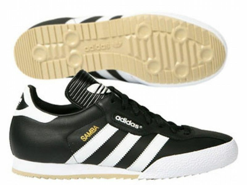 New Adidas Samba Super Mens Original Black Leather Trainers UK Comfortable New shoes for men and women, limited time discount