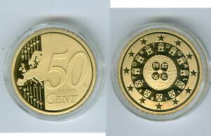 Portugal  50 Cent  PP/Proof  (Wählen Sie zwischen den Jahrgängen: 2005 - 2019)