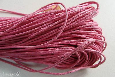 Echeveau 75m fil coton ciré 1mm VERT FONCE cordon lacet DIY bijoux déco loisirs