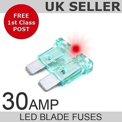 LED 30A Amp Standard Blade Fuses *Quantity 10*
