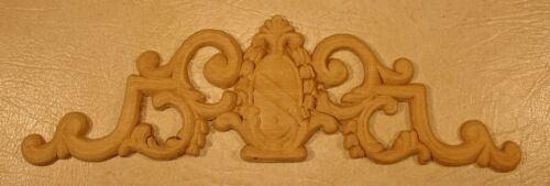 """WOOD EMBOSSED APPLIQUE CARVING  4/""""  X  13 3//4/""""   HQ469"""