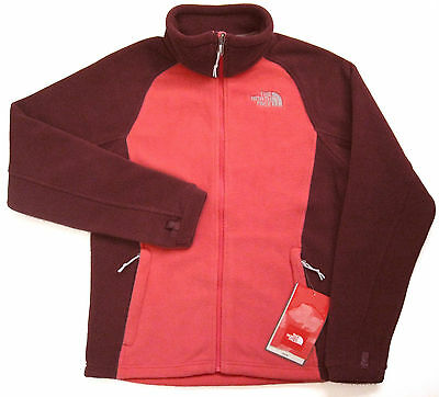 THE NORTH FACE Women's Khumbu Fleece Full Zip Jacket Pink Pearl S Polyester NEW
