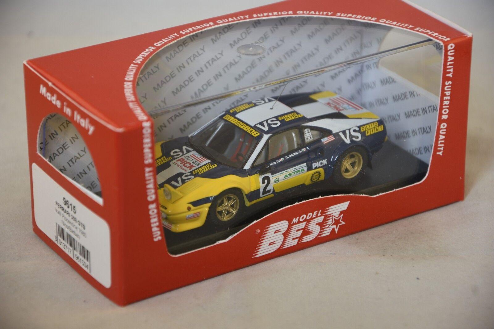 Best MODEL 9615 - Ferrari 308 GTB Gr.4 #2 rallye Valli Piacentine - 1980  1/43 | Les Clients D'abord