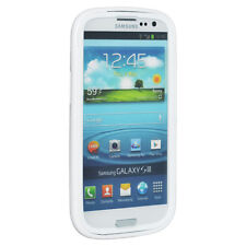 WHITE TPU SOFT/HARD SKIN CASE SCREEN PROTECTOR COVER FOR SAMSUNG GALAXY S 3 III