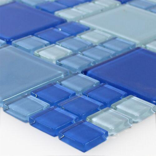 Glas Mosaik Fliesen BragaWand Bad Dusche Küchenspiegel Wohnzimmer WC