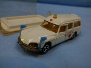 Vintage-Majorette-Citroen-DS-21-ambulancia-no-206-Modelo-Diecast-Car-Toy-En-Caja
