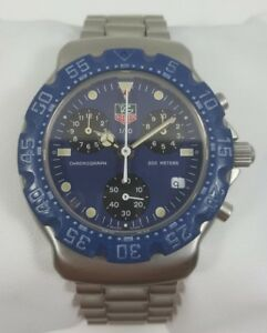 TAG-Heuer-Formula-1-Chronograph-Blue-Dial-Stainless-Steel-Men-039-s-Watch-570-513